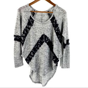 Urban Outfitters Sweater Boucle Lace Sheer Dolman